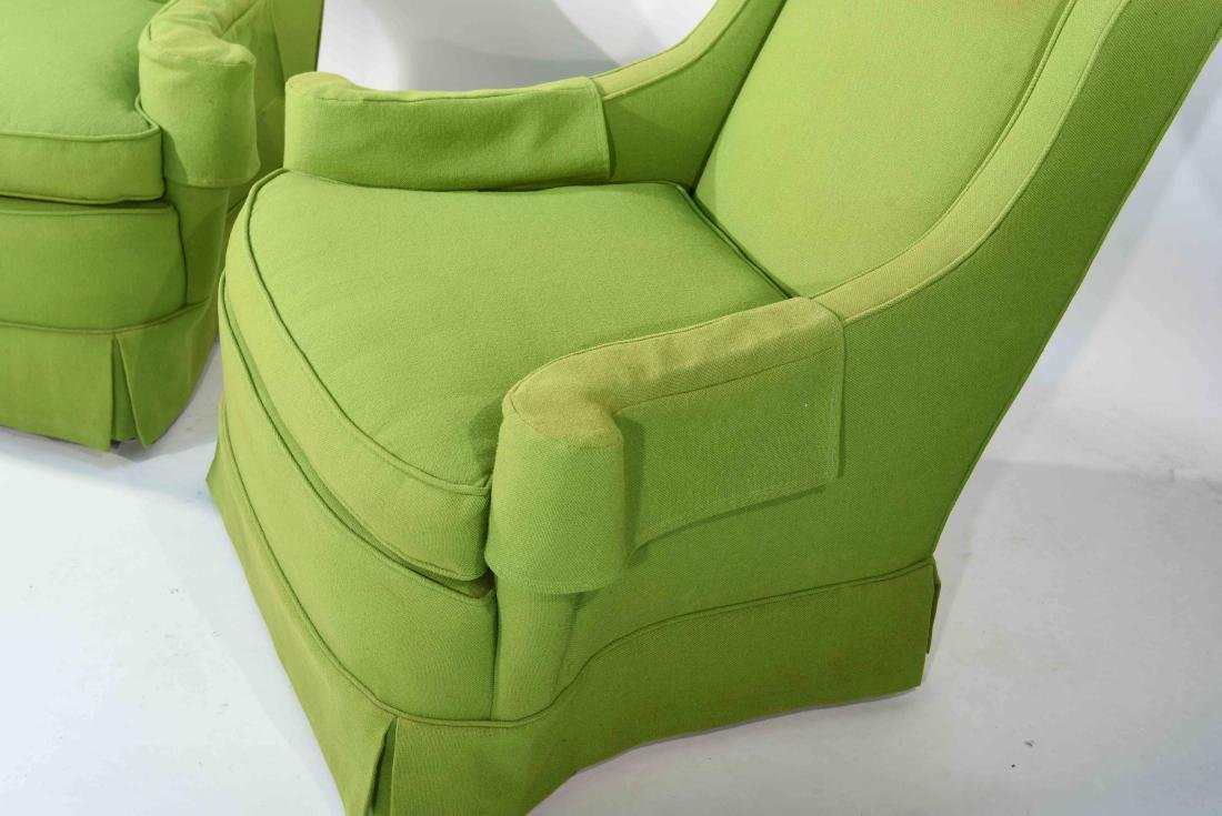 PAIR OF MID-CENTURY LIME GREEN CLUB CHAIRS - 6