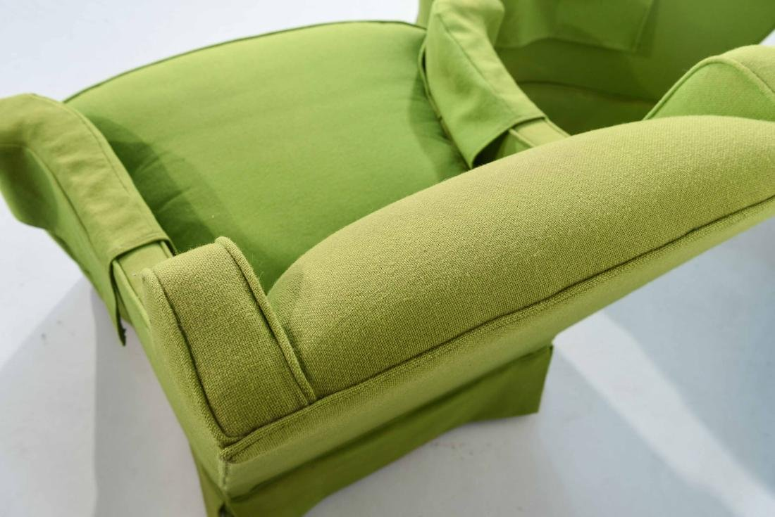 PAIR OF MID-CENTURY LIME GREEN CLUB CHAIRS - 7