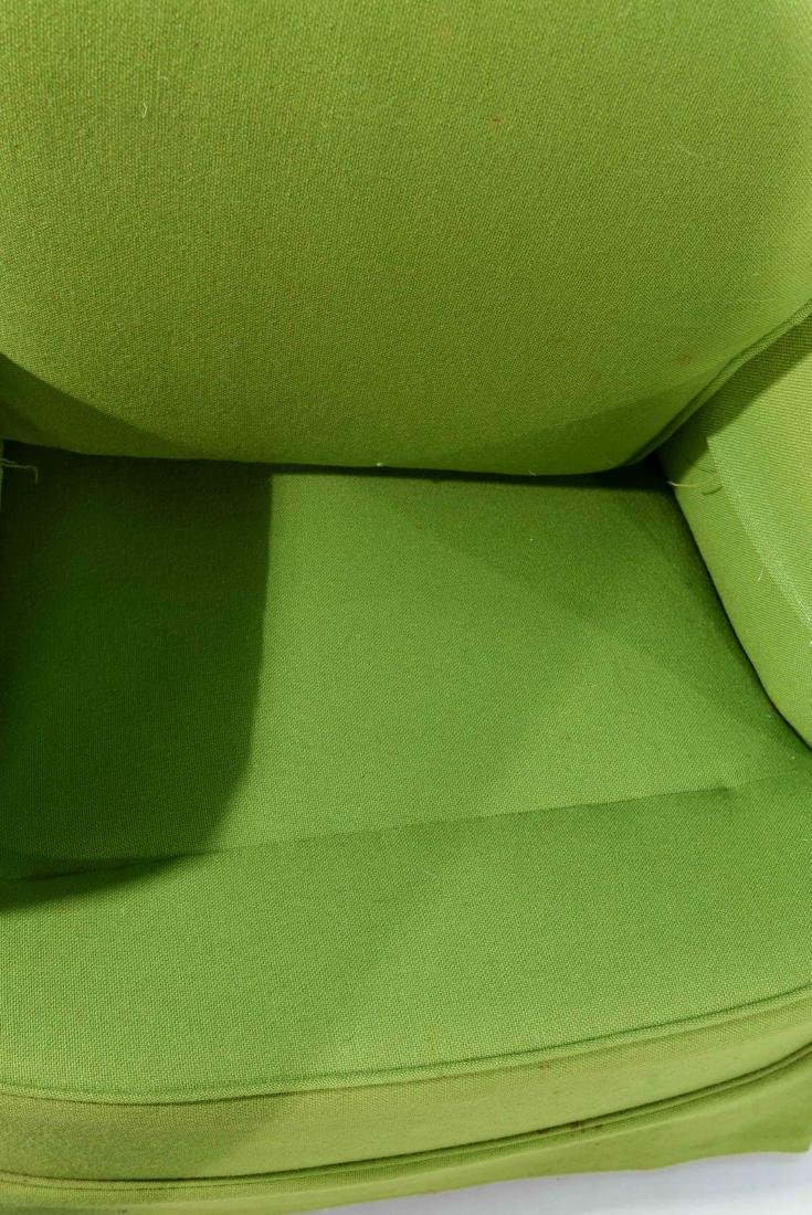 PAIR OF MID-CENTURY LIME GREEN CLUB CHAIRS - 8