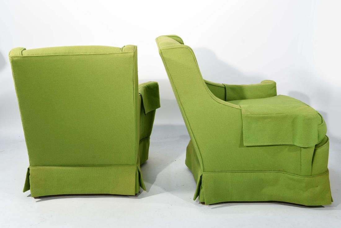 PAIR OF MID-CENTURY LIME GREEN CLUB CHAIRS - 9