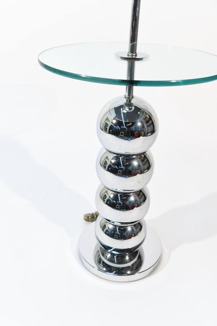 VINTAGE STACKED CHROME BALL FLOOR LAMP TABLE - 2
