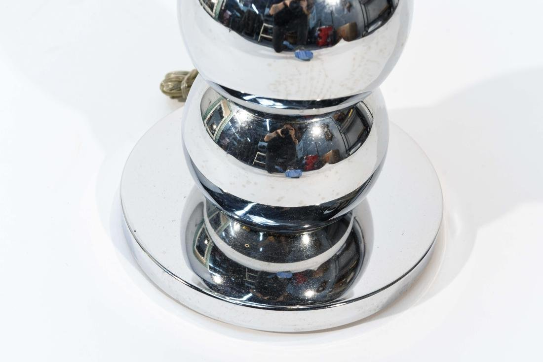 VINTAGE STACKED CHROME BALL FLOOR LAMP TABLE - 8