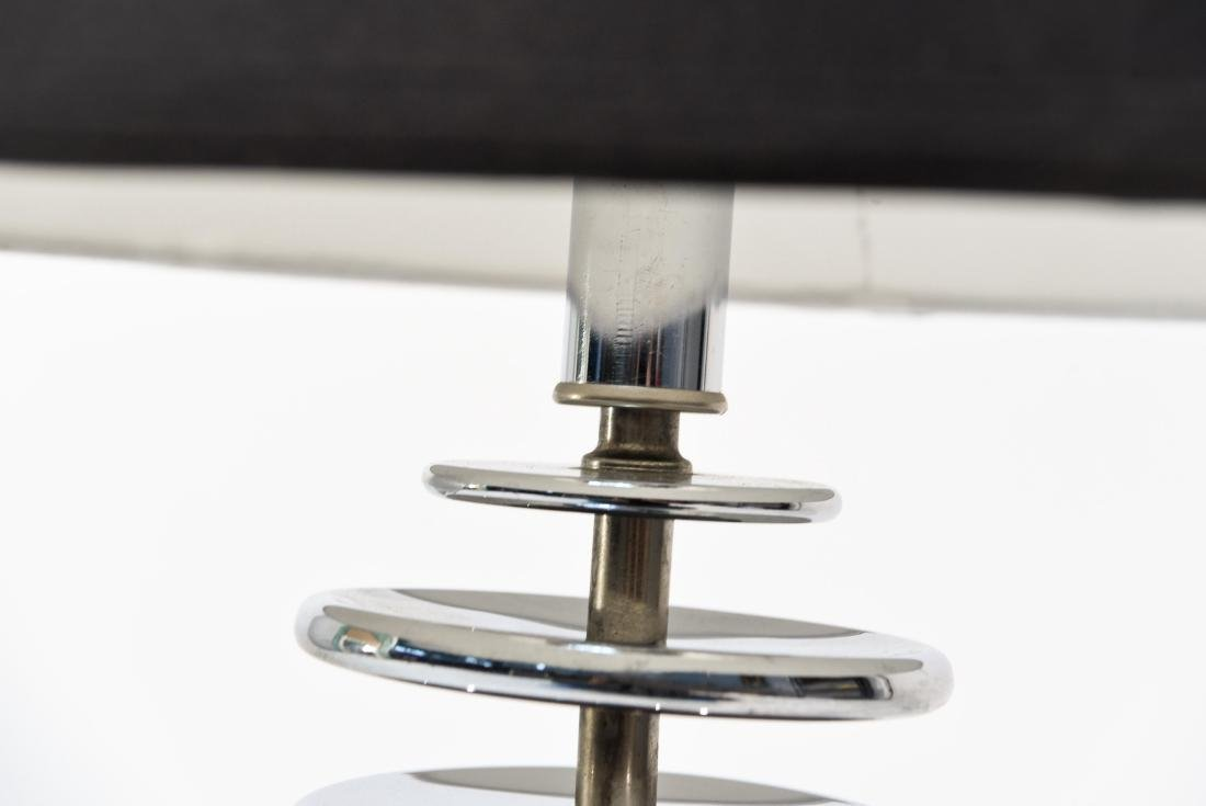 MID-CENTURY CHROME STACKED TABLE LAMP - 3