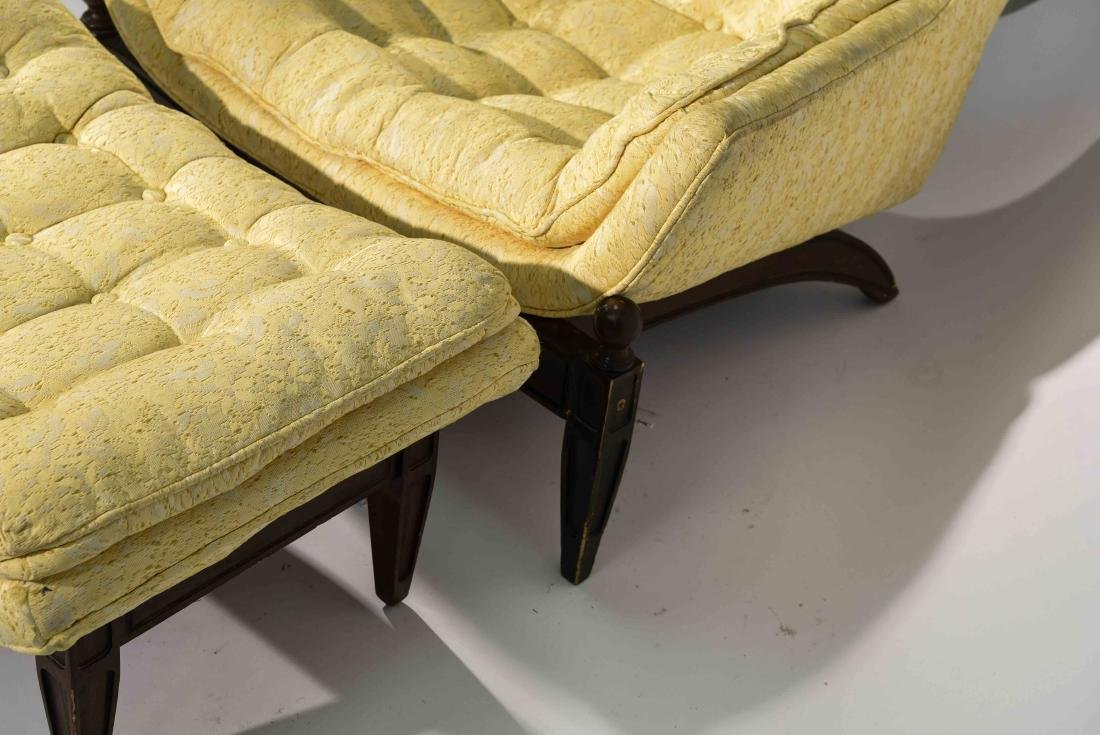 (2) HOLLYWOOD REGENCY STYLE LOUNGE CHAIRS - 10