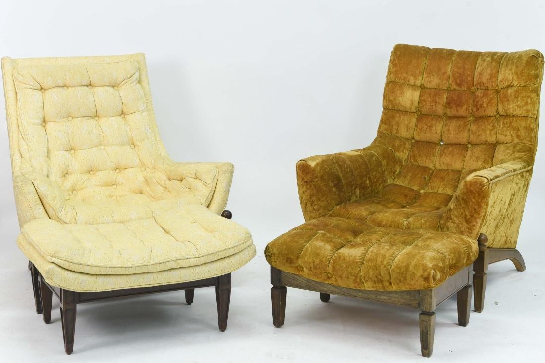 (2) HOLLYWOOD REGENCY STYLE LOUNGE CHAIRS