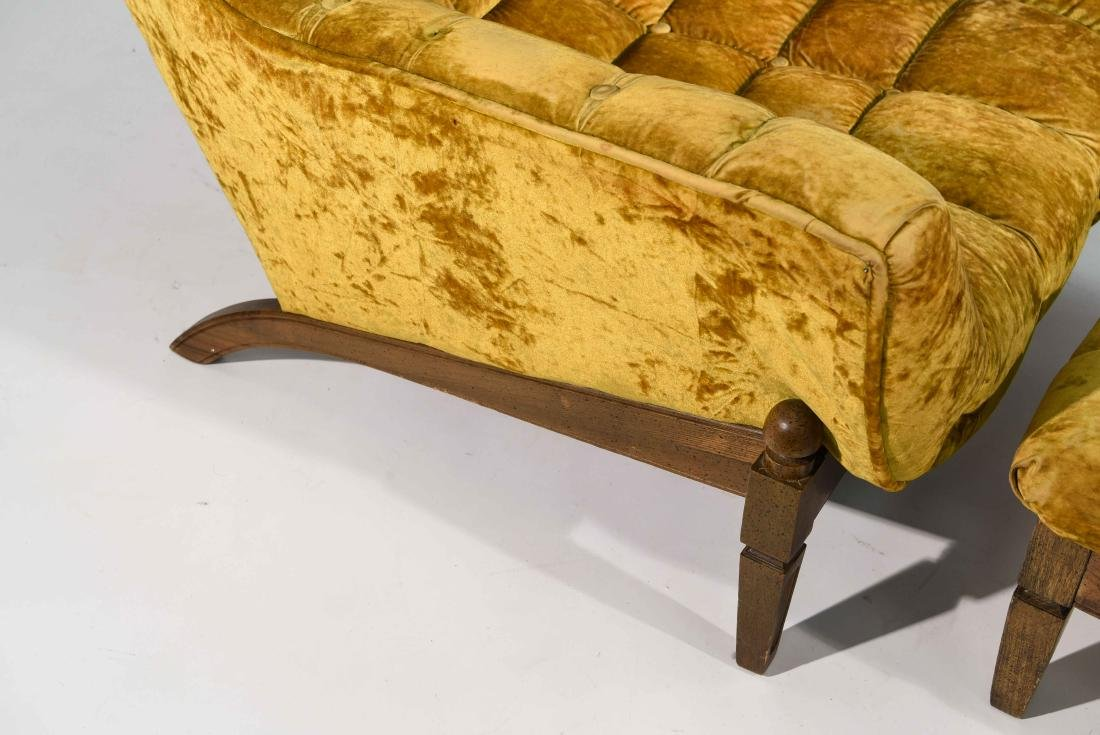(2) HOLLYWOOD REGENCY STYLE LOUNGE CHAIRS - 5