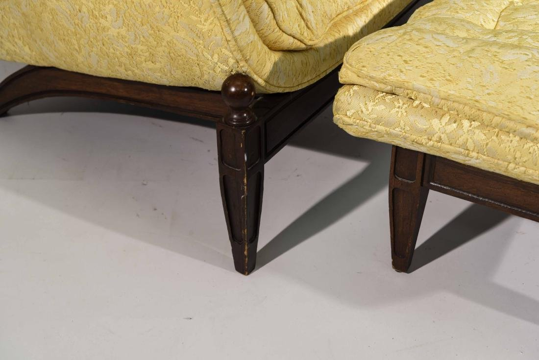 (2) HOLLYWOOD REGENCY STYLE LOUNGE CHAIRS - 9