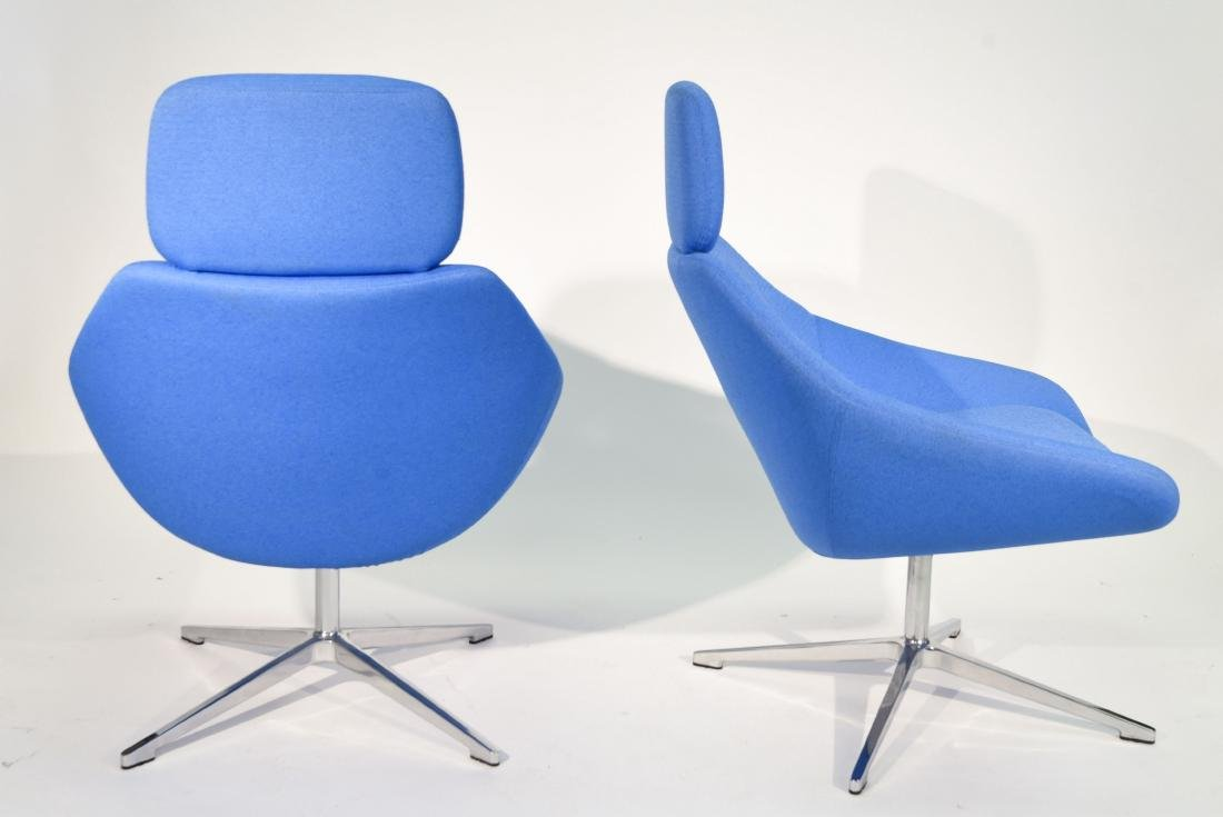 PAIR OF ALLEMUIR TALL BACK LOUNGE CHAIRS - 6