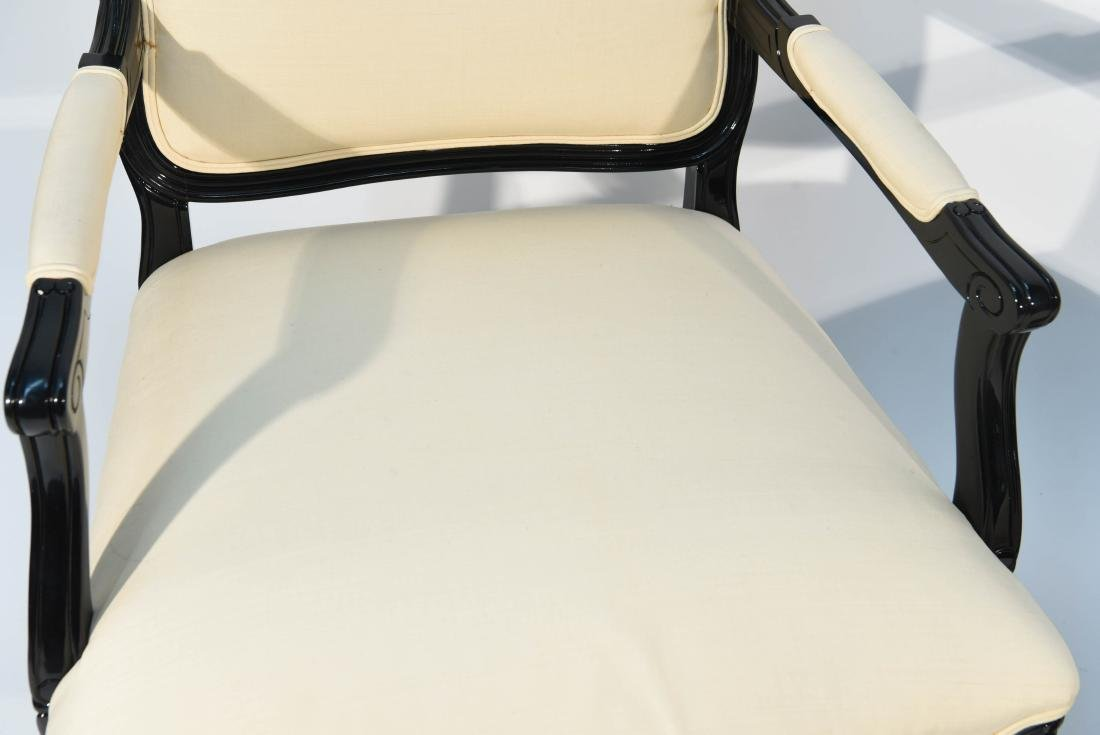 PAIR OF LACQUERED FAUTEUIL ARM CHAIRS - 2