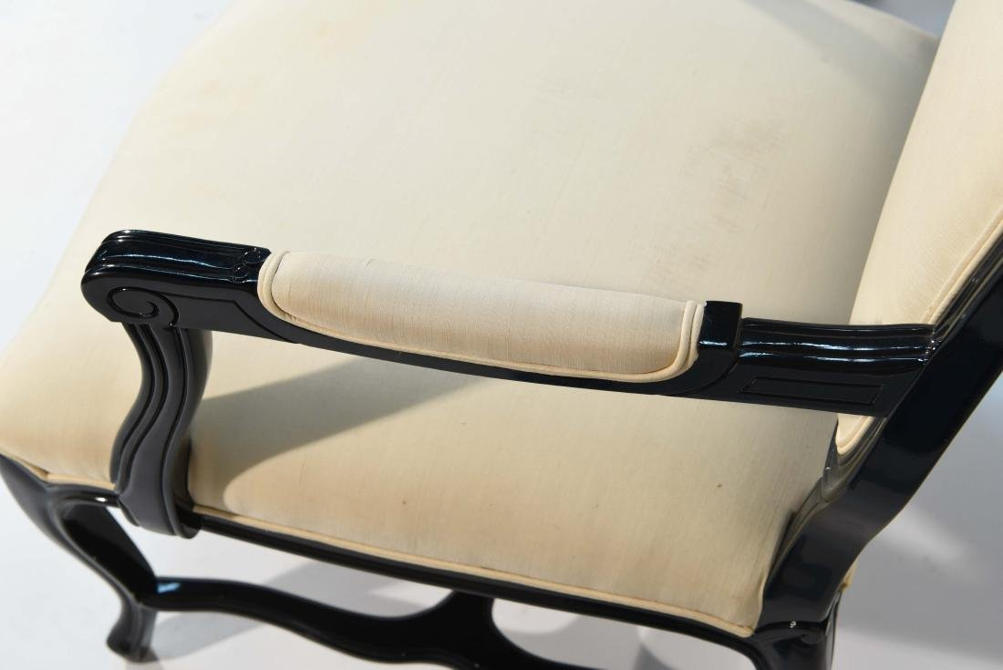 PAIR OF LACQUERED FAUTEUIL ARM CHAIRS - 5