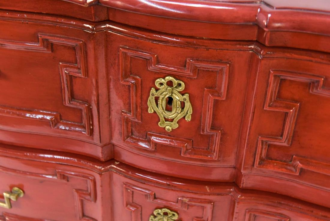 LOUIS XV STYLE LACQUERED COMMODE - 2