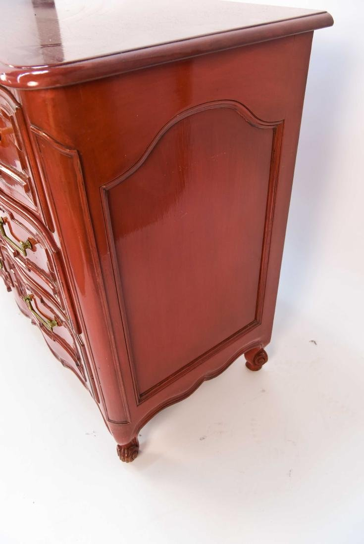 LOUIS XV STYLE LACQUERED COMMODE - 4