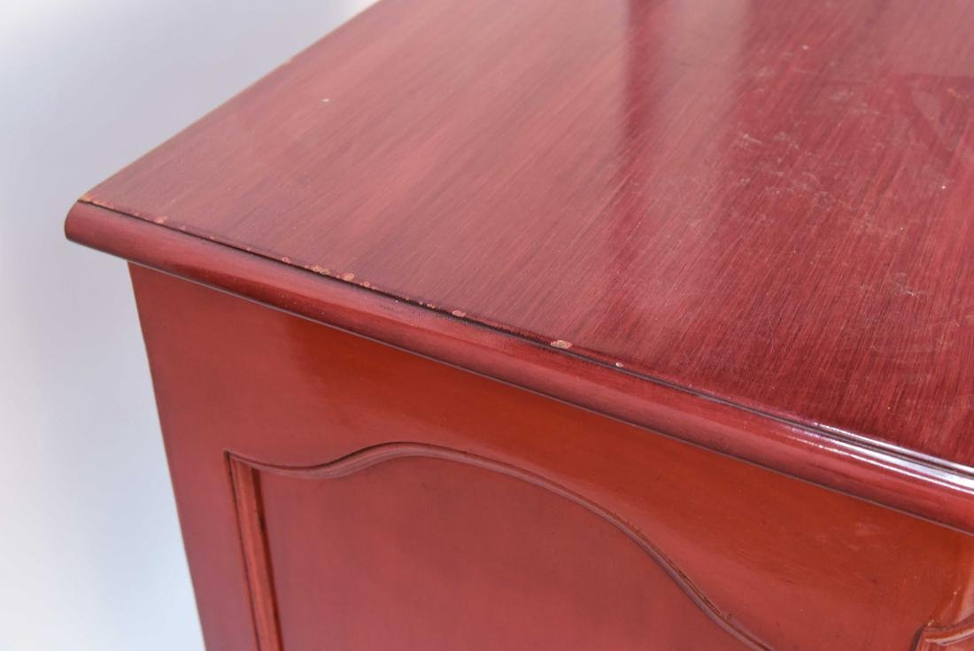 LOUIS XV STYLE LACQUERED COMMODE - 8