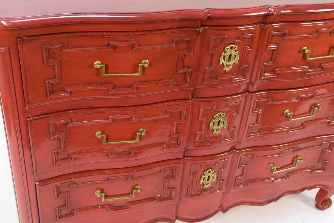 LOUIS XV STYLE LACQUERED COMMODE - 9