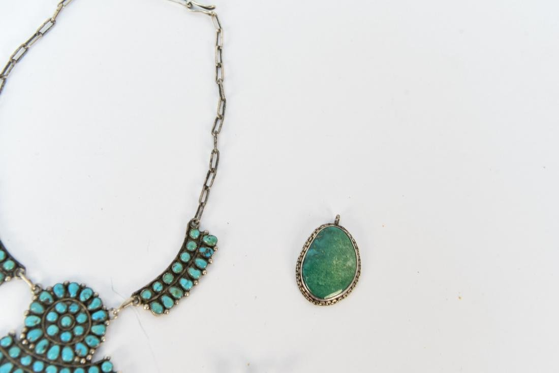 STERLING SILVER & TURQUOISE JEWELRY SUITE - 5