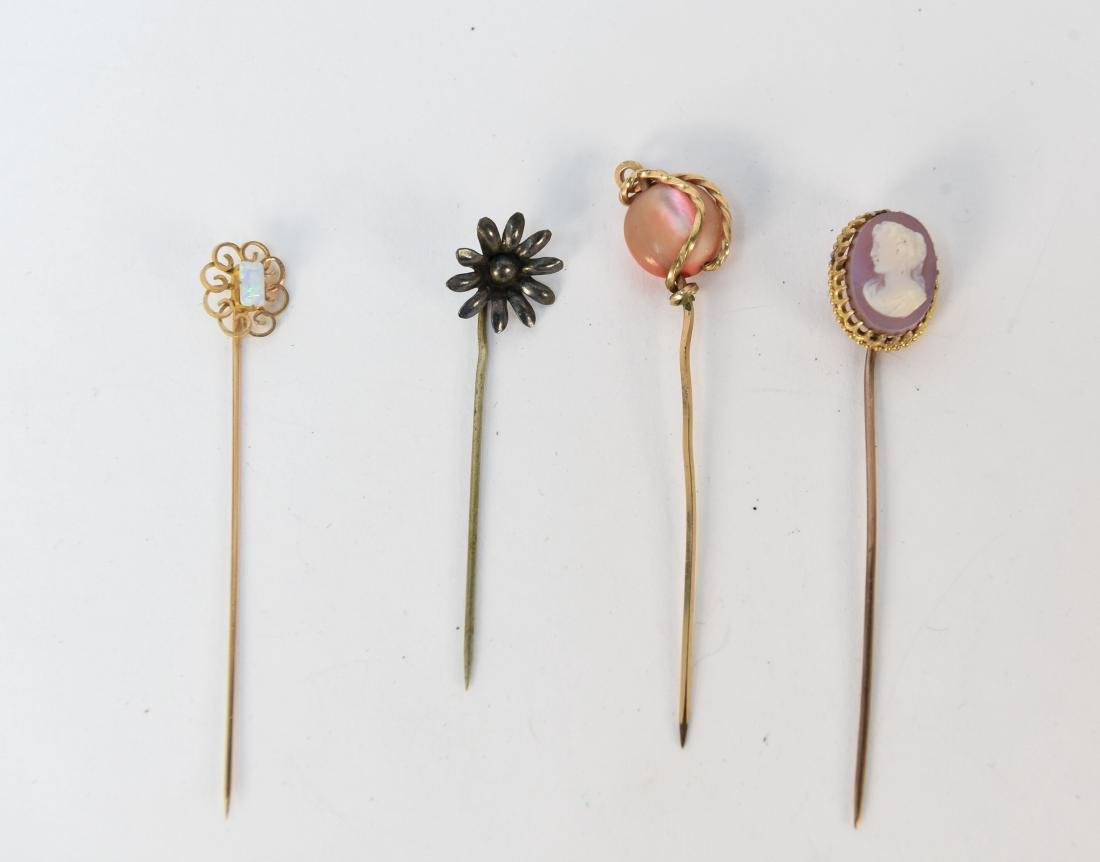 (4) ANTIQUE STICK PINS