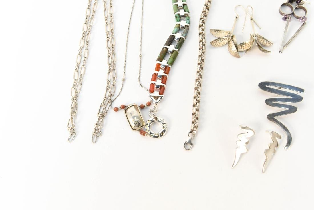 GROUPING OF STERLING SILVER JEWELRY - 2