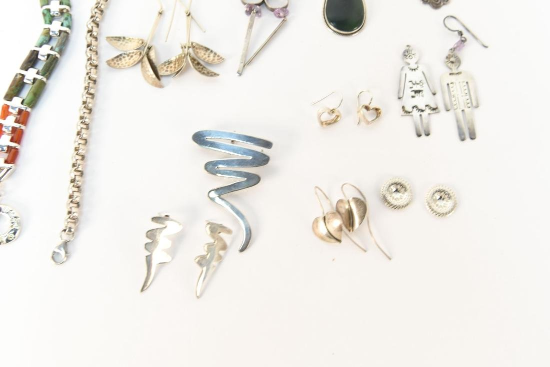 GROUPING OF STERLING SILVER JEWELRY - 3