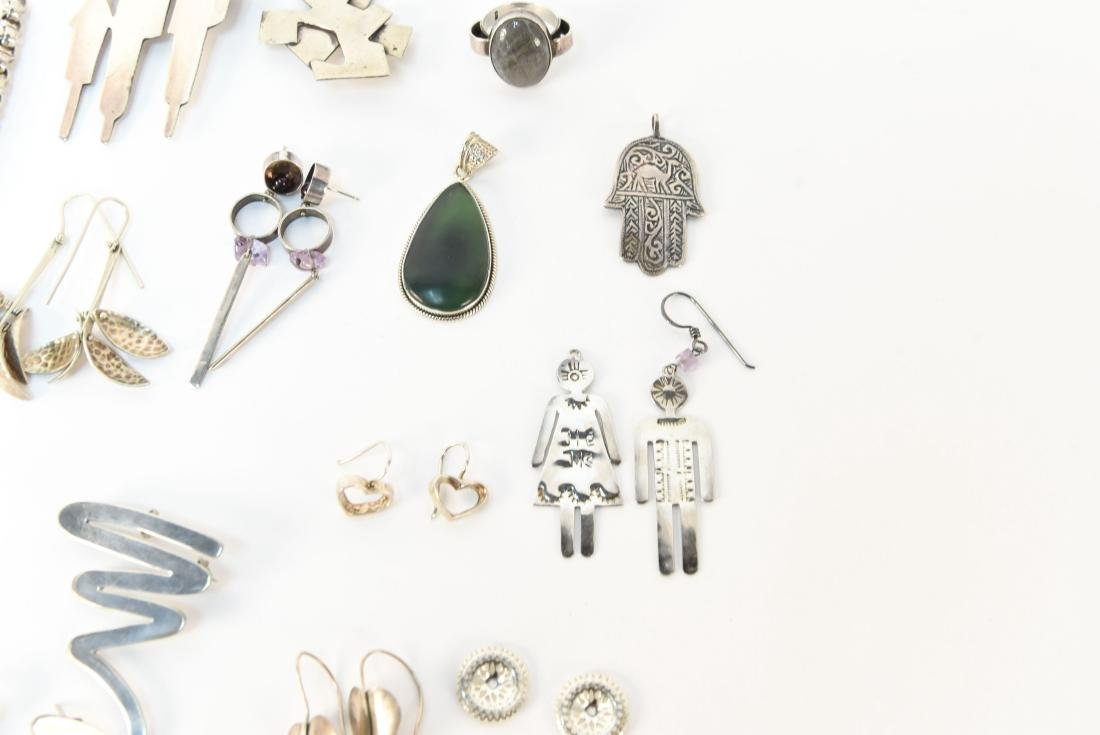 GROUPING OF STERLING SILVER JEWELRY - 4