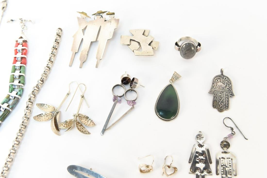 GROUPING OF STERLING SILVER JEWELRY - 5