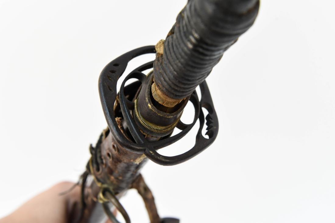 JAPANESE SAMURAI SWORD W/ SIGNED HANDLE - 10