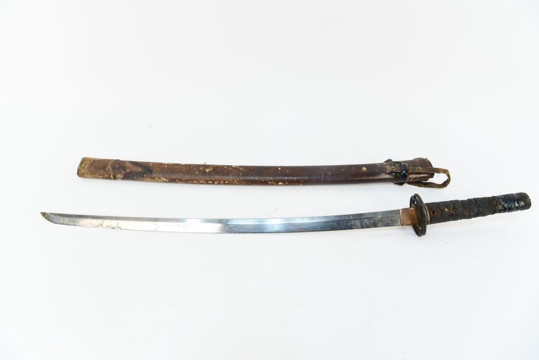 JAPANESE SAMURAI SWORD W/ SIGNED HANDLE