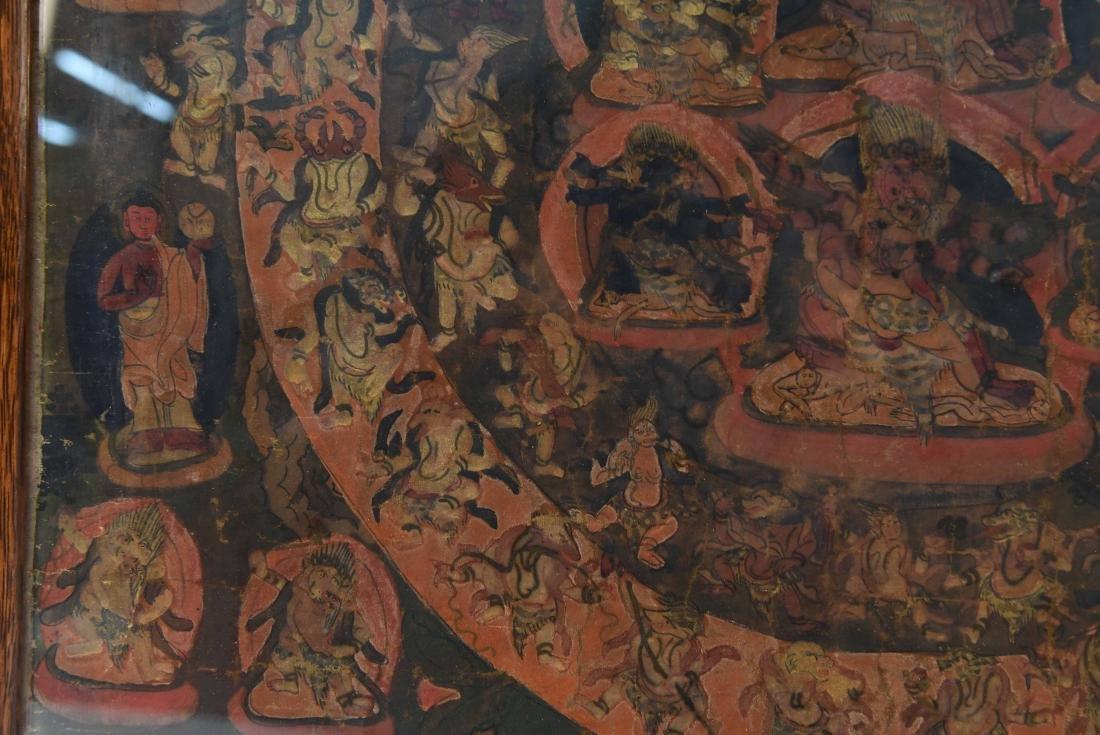 19TH C. TIBETAN THANGKA - 8
