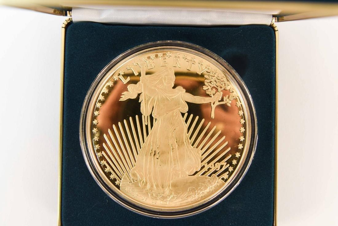 1997 GIANT QUARTER-POUND LIBERTY COIN (4) - 2