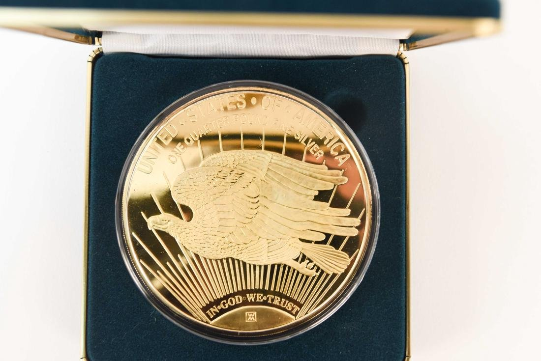 1997 GIANT QUARTER-POUND LIBERTY COIN (4) - 3