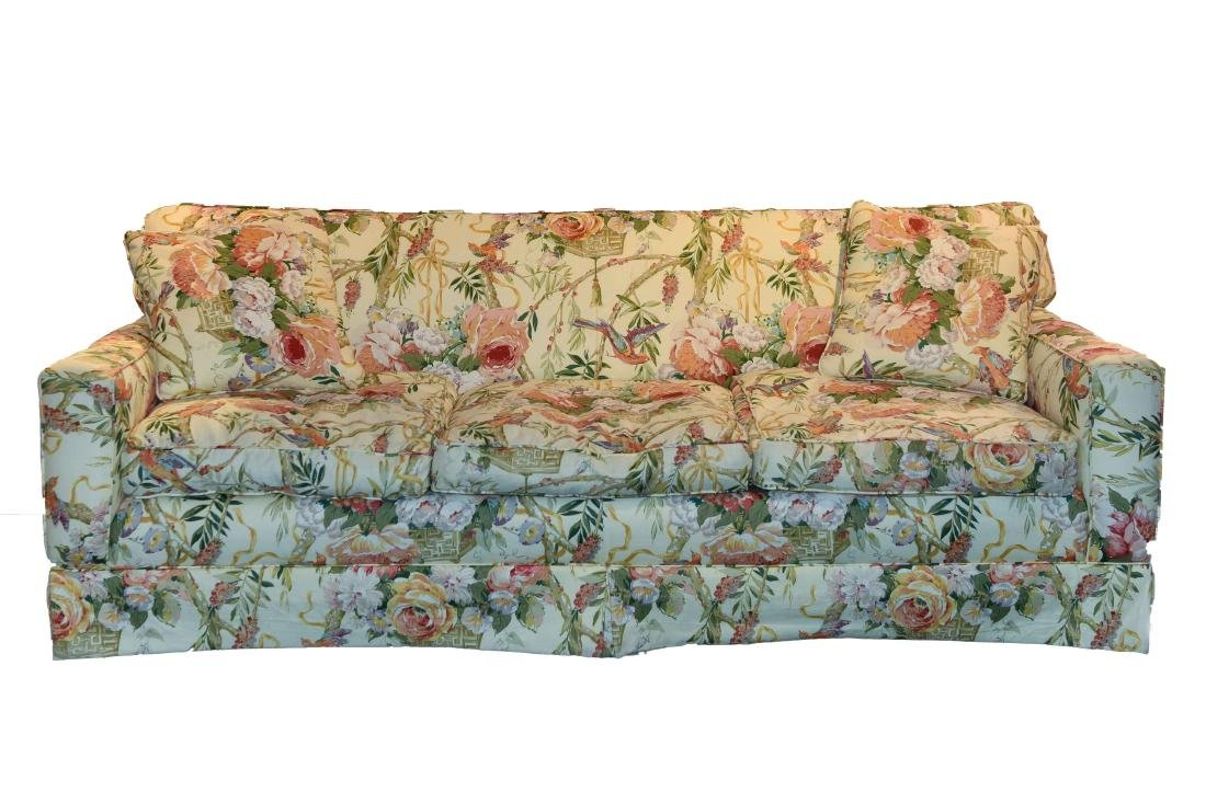 CHINTZ DOWN FILLED UPHOLSTERED SOFA