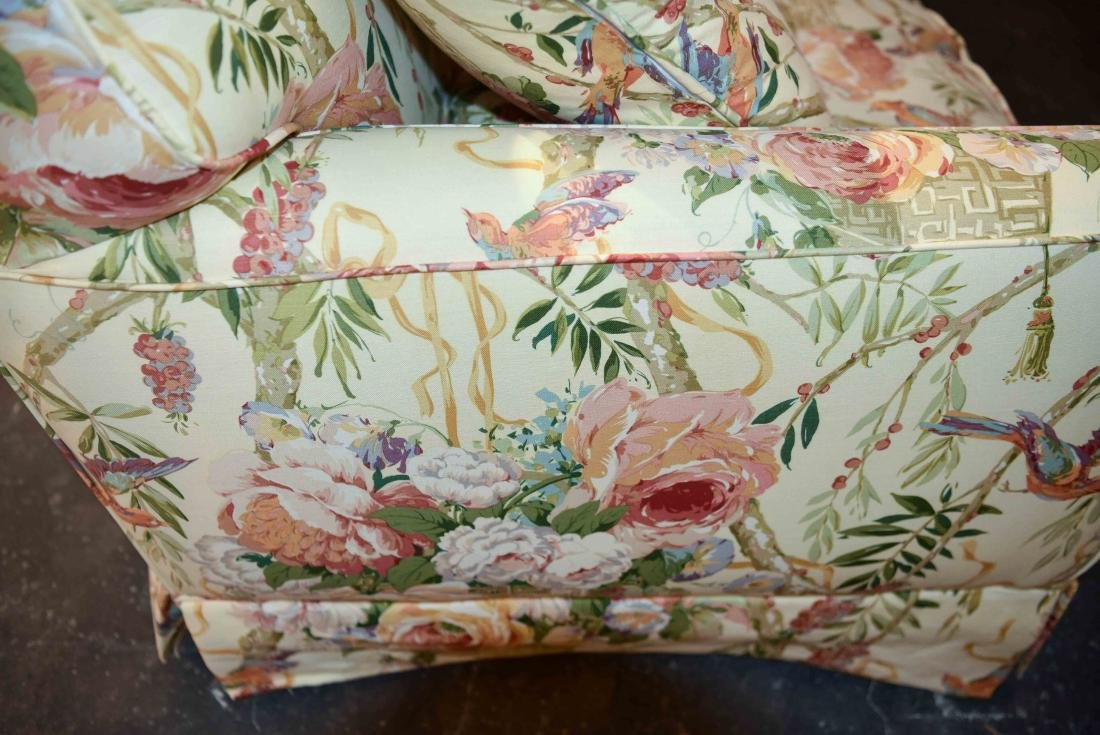 CHINTZ DOWN FILLED UPHOLSTERED SOFA - 8