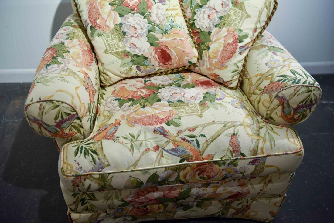 CHINTZ DOWN FILLED UPHOLSTERED CHAIR - 2