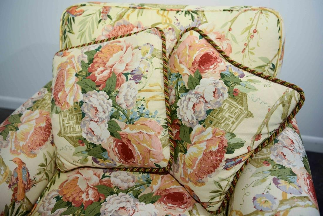 CHINTZ DOWN FILLED UPHOLSTERED CHAIR - 3