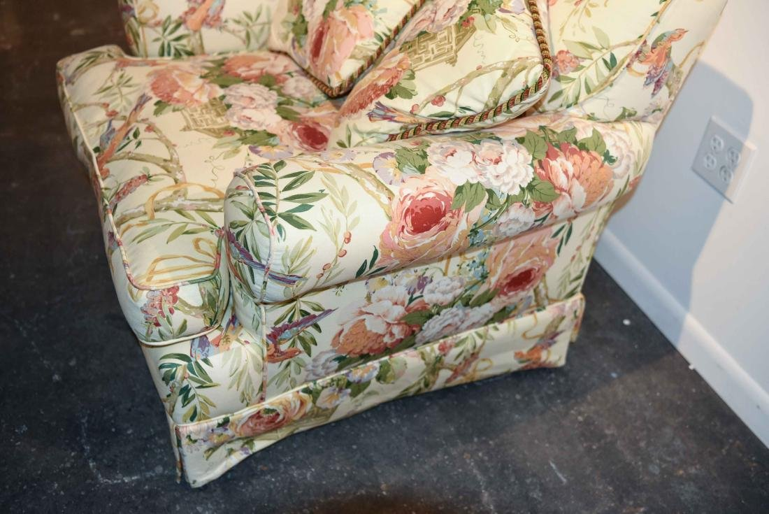 CHINTZ DOWN FILLED UPHOLSTERED CHAIR - 4