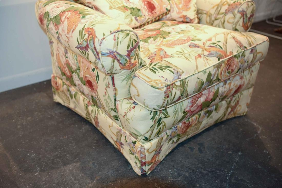 CHINTZ DOWN FILLED UPHOLSTERED CHAIR - 5