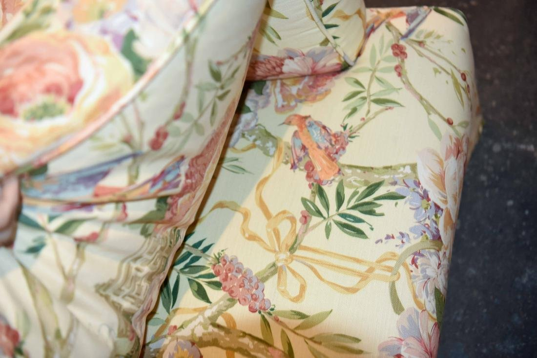 CHINTZ DOWN FILLED UPHOLSTERED CHAIR - 6