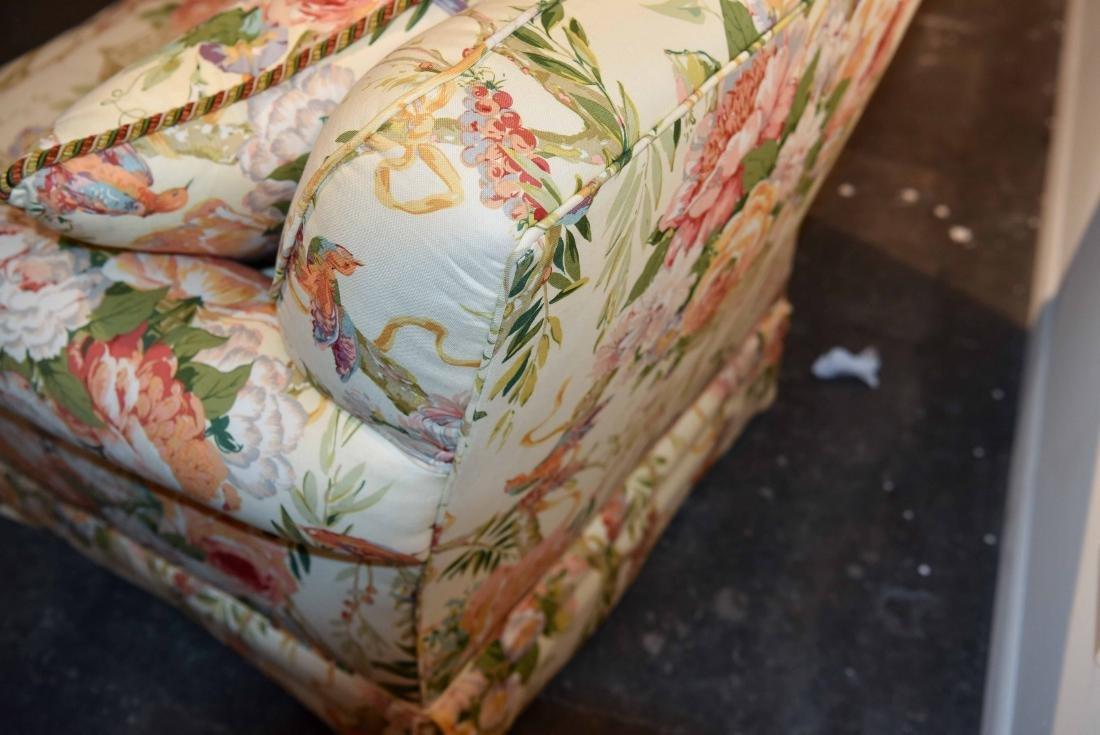 CHINTZ DOWN FILLED UPHOLSTERED CHAIR - 7