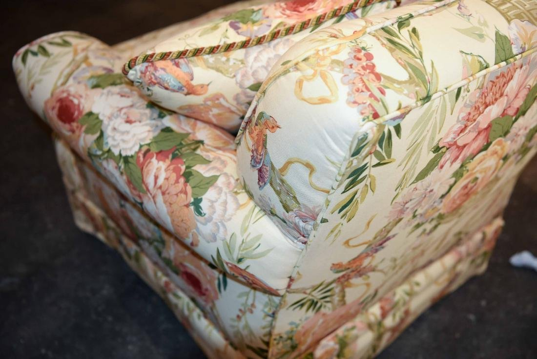CHINTZ DOWN FILLED UPHOLSTERED CHAIR - 8