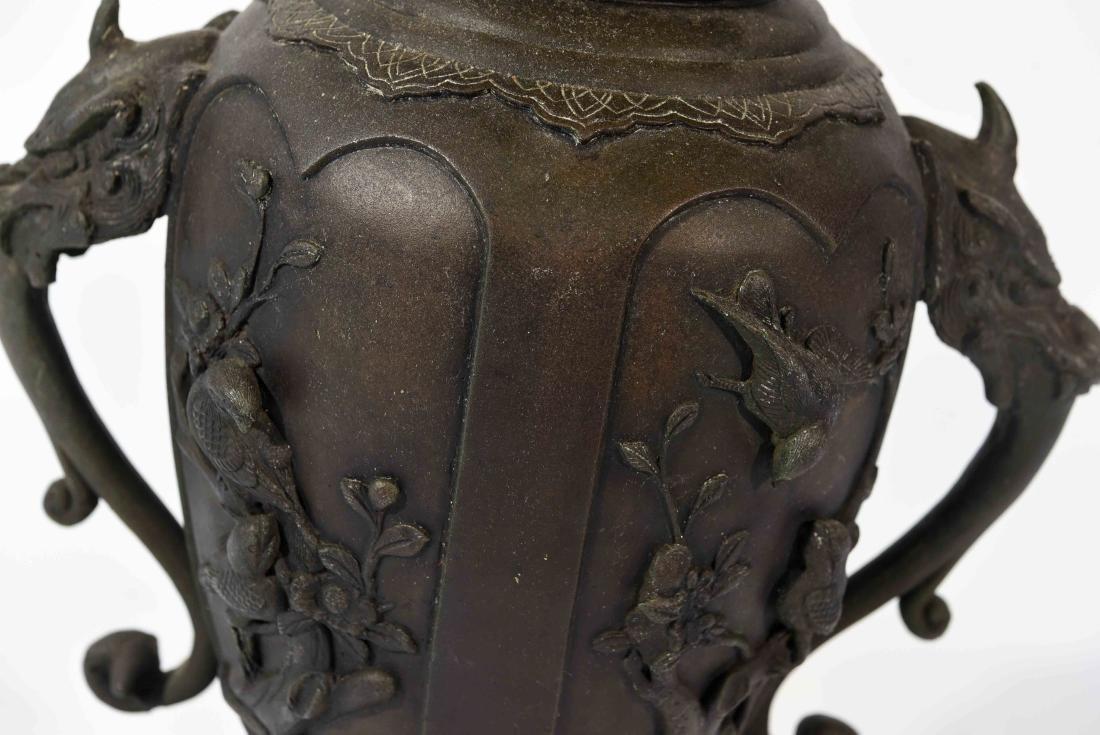 LARGE JAPANESE VASE LAMP C. 1900 - 4
