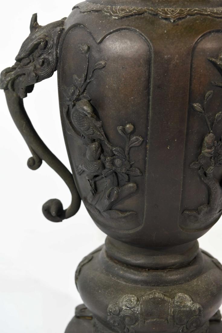 LARGE JAPANESE VASE LAMP C. 1900 - 5