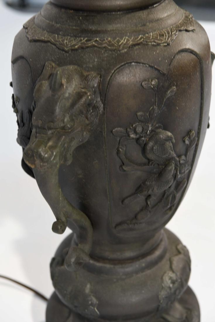LARGE JAPANESE VASE LAMP C. 1900 - 7