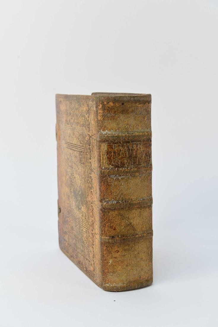 ANTIQUE LEATHER BOUND FAUX BOOK SAFE