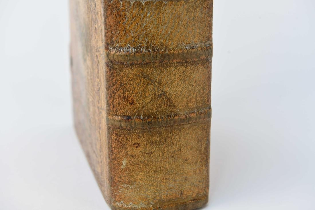 ANTIQUE LEATHER BOUND FAUX BOOK SAFE - 3
