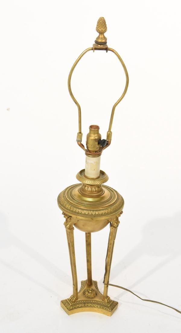 19TH C. CLASSICAL BRONZE LAMP