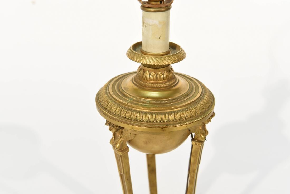 19TH C. CLASSICAL BRONZE LAMP - 2