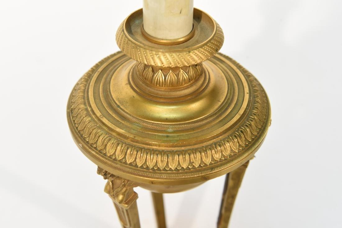 19TH C. CLASSICAL BRONZE LAMP - 5