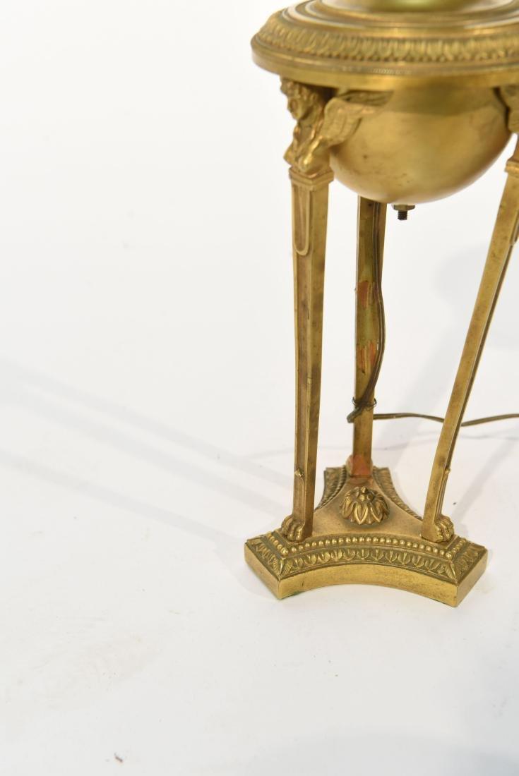 19TH C. CLASSICAL BRONZE LAMP - 7