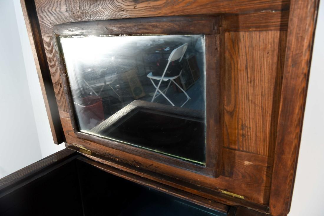 ANTIQUE OAK ICE CHEST / BOX - 4