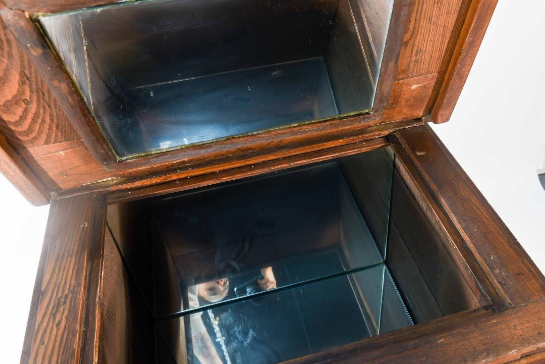ANTIQUE OAK ICE CHEST / BOX - 5