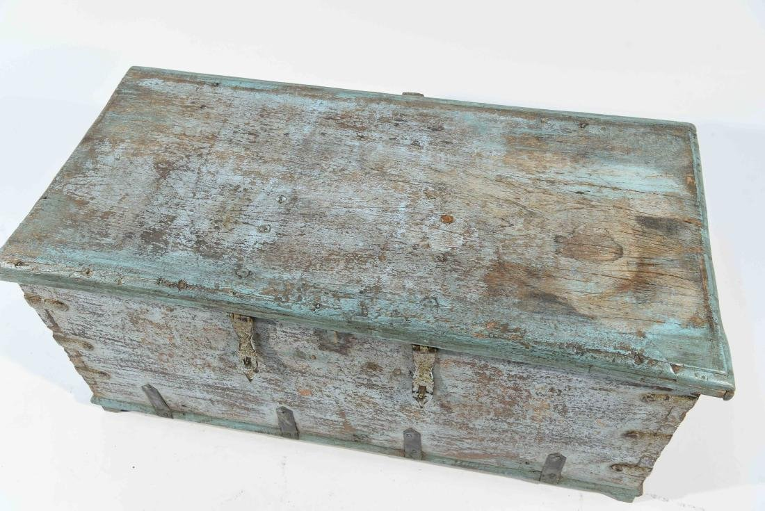 ANTIQUE PAINTED DISTRESSED CHEST - 2